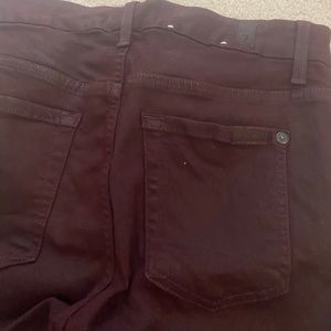 Seven for all mankind Burgundy jeans